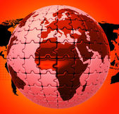 Global Warming Shows Globalise Globalization And World — Stock Photo