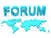 Www Forum Means Social Media And Worldwide — Stock Photo