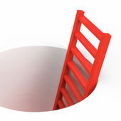 Freedom Ladder Indicates Break Out And Climbing — Stock Photo