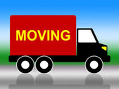 Moving House Represents Change Of Address And Lorry — Stockfoto