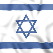 Flag Israel Shows Middle East And Countries — Stock Photo