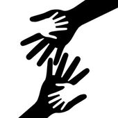 Holding Hands Represents Mom Multiethnic And Parent — Stock Photo