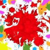 Paint Background Represents Colorful Splat And Color — Stock Photo