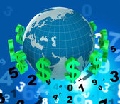 Dollars Forex Means United States And Broker — Stock Photo