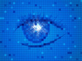 Background Blue Means Human Eye And Design — Stock Photo