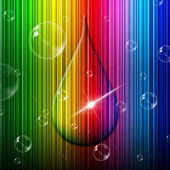 Rain Drop Indicates Color Swatch And Backgrounds — Stock Photo