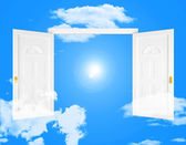 Sky Doorway Shows Doorways Doors And Eternity — Stock Photo