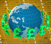 Pounds Forex Means Worldwide Trading And Currency — Stock Photo