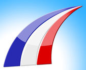 France Flag Indicates Patriot National And Stripes — Stock Photo