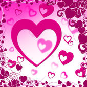 Background Heart Represents Valentine Day And Backdrop — Stock Photo