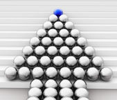 Leader Spheres Represents Team Work And Command — Stock Photo