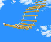 Ladder Climb Means Upwards Steps And Victors — Stock Photo