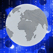 Global Matrix Means Globalize Globalization And Network — Stock Photo