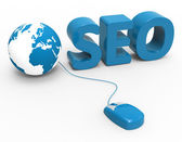 Global Seo Means World Wide Web And Website — Stock Photo