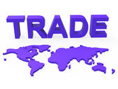 Global Trade Represents Planet Earth And Purchase — Stock Photo