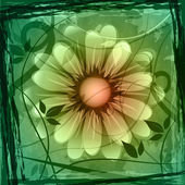 Floral Copyspace Shows Flower Boundary And Frame — Stockfoto