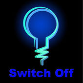 Switch Off Means Save Electricity And Energy — Stock Photo