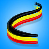 Flag Belgium Indicates Nationality Patriotism And Belgian — Stock Photo