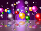 Sphere Bouncing Represents Colourful Spheres And Vibrant — Stock Photo