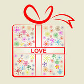 Love Gifts Means Wrapped Present And Surprises — Stock Photo