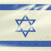 Israel Flag Represents Country Jew And Patriotism — Stock Photo