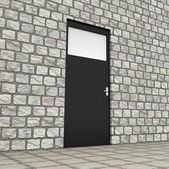 Planning Door Represents Objective Forecasting And Aim — Photo