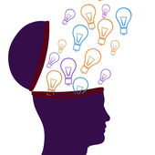 Think Idea Indicates Thoughts Consider And Considering — 图库照片