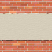 Brick Wall Represents Empty Space And Backdrop — Stock Photo