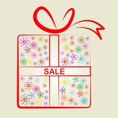 Sale Gifts Means Box Merchandise And Reduction — Stock Photo