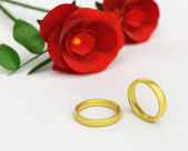 Wedding Rings Means Find Love And Adoration — Stock Photo