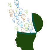 Think Idea Indicates Innovations Consideration And Creative — Foto Stock