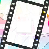 Filmstrip Paper Means Empty Space And Copy — Stock Photo