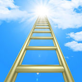 Up Ladders Indicates Raise Improvement And Improve — Stock Photo
