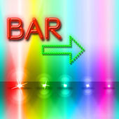 Bar Spotlight Shows Traditional Pub And Beam — Stock Photo