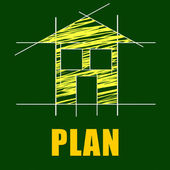 Plans House Represents Architect Habitation And Residence — Stock Photo