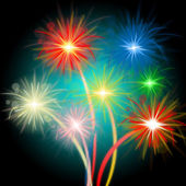 Fireworks Color Means Night Sky And Celebrations — Stock Photo
