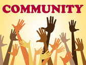 Hands Community Represents Organized Group And Altogether — Foto de Stock