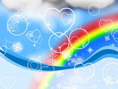 Background Rainbow Represents Valentine's Day And Abstract — Stock Photo