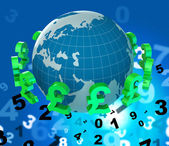 Pounds Forex Indicates Worldwide Trading And Money — Stock Photo