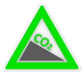 Sign Co2 Shows Carbon Footprint And Emission — Stock Photo