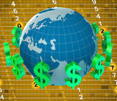 Forex Dollars Represents United States And Banking — Stock Photo