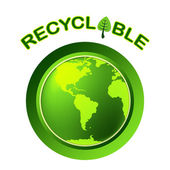 Recyclable Recycle Shows Earth Friendly And Bio — Zdjęcie stockowe