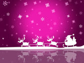 Pink Snowflake Indicates Father Xmas And Celebration — Stock Photo