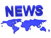 News World Means Newsletter Globalization And Globalise — Stock Photo