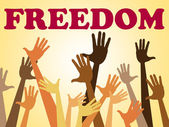 Hands Freedom Means Break Out And Escape — Stock Photo