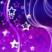Mauve Background Shows Wave Stars And Starred — Stock Photo