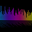Digital Music Beats Background Shows Music Soundtrack Or Sound P — Stock Photo #48867119