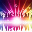 Bright Colors Background Shows Sound Light Waves And Circle — Stock Photo #48867299