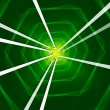 Green Hexagons Background Shows Arrows Portal Or Int — Stock Photo #48867393