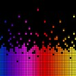 Rainbow Soundwaves Background Means Musical Playing Or D — Stock Photo